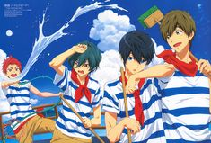 artbooksnat:  High Speed! -Free! Starting Days- All hands on deck for the splashing new Free! Starting Days poster in the January issue of Animage Magazine (Amazon JP | US), illustrated by animator Kohei Okamura. Summer time is here again!