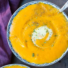 Creamy Roasted Butternut Squash Soup made with Coconut Milk dairy free vegan paleo (Paleo Soup Dairy Free) Dairy Free Soup, Dairy Free Recipes, Real Food Recipes, Cooking Recipes, Gluten Free, Fall Recipes, Soup Recipes, Vegetarian Recipes, Healthy Recipes