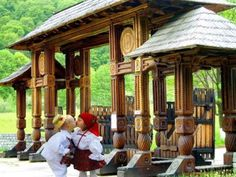 Maramures, oferte sejur, cazare hotel, pensiuni, excursii in Maramures Gazebo, Pergola, Wooden Gates, Romania, Places To Visit, Outdoor Structures, Clouds, Cabin, Traditional