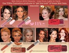 Met Gala Beauty 2012.  Get the Red carpet look by using TINte Cosmetics #flavoredlipgloss get-the-red-carpet-look-by-using-tinte-cosmetics