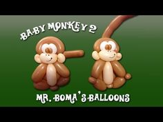 Baby Monkey #2 Balloon Animal Tutorial (Balloon Twisting and Modeling #11.3) - YouTube