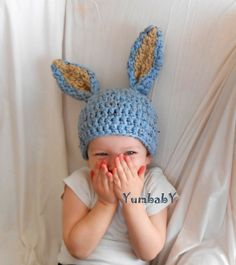Blue Easter Bunny Hat Baby Boy Easter Clothes Gifts for by YumbabY, $24.95