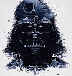 darth vader made out of every ship in the star wars series... too cool