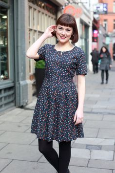 The oh-so-sweet bird print Vera dress from Circus Bird Prints, Carousel, Dublin, Vintage Style, Street, Photography, Outfits, Dresses, Fashion