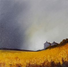 Original painting by Barry Hilton Meadows of Gold IV £900. www.hepplestonefineart.com