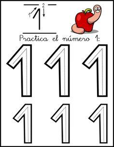 lectoescritura de numeros el 1 ficha 2