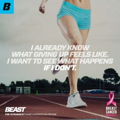"""""""I already know what giving up feels like. I want to see what happens if I don't."""" #BeastMode #Beast #DontGiveUp #KeepGoing #FlexFriday #HappyFriday"""