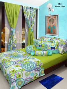 Colourful Living Room, Elegant Living Room, Room Ideas Bedroom, Bedroom Decor, Bed Cover Design, Designer Bed Sheets, Rideaux Design, Indian Home Interior, Curtain Designs