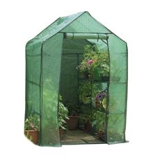 "Gardman 7622 Walk-In Greenhouse with Shelving, 75"" Long x 49"" Wide x 75"" High"
