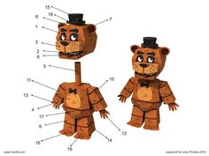 Five Nights At Freddy's Paper Craft