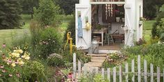 Get stylish! Here are 17 low-budget ideas to keeping your garden shed organised: http://www.bhg.com/gardening/yard/tools/17-cottage-fresh-storage-ideas/