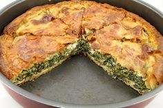 Spanakopita (Greek Spinach Pie) Ingredients 20oz curly leaf spinach, rinsed 1/4 cup water 12oz feta, crumbled into fine pieces 3/4 cup whol...