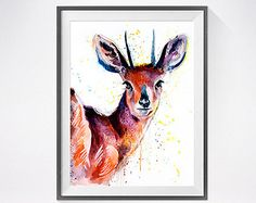 Magical Horse 2 watercolor painting print Horse art by SlaviART