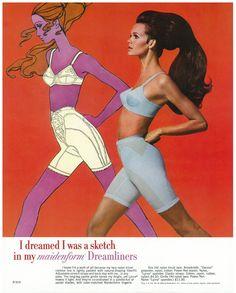 I Dreamed I Was A Sketch. Vintage Ads. Maidenform.