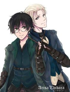 Fanart Drarry<< i don't ship it but the art is amazing so i must pin it.