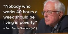 Nobody who works 40 hours a week should be living in poverty. Description from twicsy.com. I searched for this on bing.com/images
