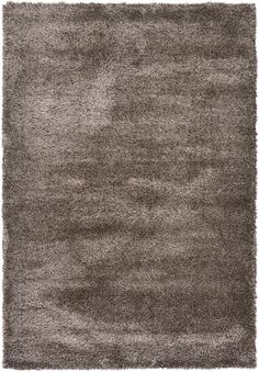 Pinecone Brown 6' 0 x 9' 0 Luxe Solid Shag Rug   Area Rugs   eSaleRugs