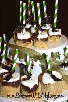 S'more pops made for a woodsy theme baby shower