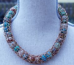 Captured Stones Necklace. $85.00