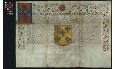 PT-TT-CA-1-1_m0001.TIF - Carta de armas de Henrique da Mota - Arquivo Nacional da Torre do Tombo - DigitArq