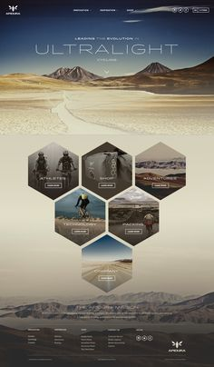 Cool site design by Owen Perry. Big images, lots of hexagons, cool fonts, and beautiful photography.