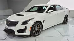 Meet the 2016 Cadillac CTS-V, a 200-mile-per-hour, supercharged, four-door sedan. Mean looking Cadillac. 8.2