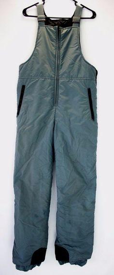 468cf5e5c2 Snowy Mountain Ski Bib Snow Pants Adult Size M Gray Nylon