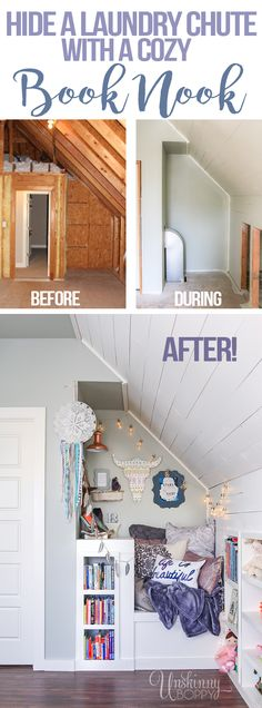 How to hide a laundry chute book nook by Unskinny Boppy