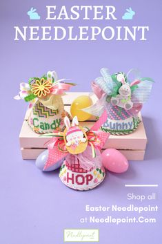Easter is our favorite 🐰Check out all Easter Needlepoint at Needlepoint. Bug Crafts, Decor Crafts, Paper Crafts, Happy St Patty's Day, Easter 2020, Hoppy Easter, Needlepoint Kits, Hand Embroidery Stitches, Easter Treats