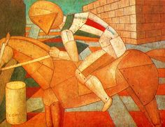 Carra, Carlo (1881-1966) - 1910s Horse and Rider