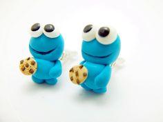Krümelmonster Keks Monster Cookie Ohrclips