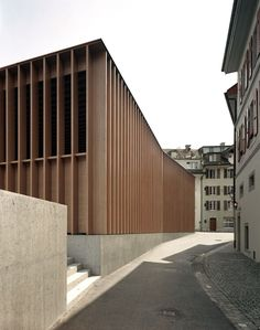 Ruedi Walti, Miller & Maranta – Market Hall in Aarau Timber Architecture, Minimal Architecture, Contemporary Architecture, Architecture Details, Library Architecture, Sustainable Architecture, Amazing Architecture, Landscape Architecture, Contemporary Art