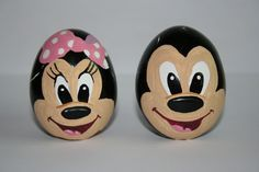 mickey and minnie mouse  easter eggs painted by me.