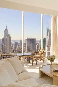 Dream Apartment, Apartment Interior, Nyc Apartment Luxury, Apartment View, Manhattan Apartment, Penthouse Apartment, Apartment Living, Apartment Ideas, Appartment Design