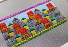 The Village I Built, design  photo copyright Orna Willis, needlepoint on silk gauze