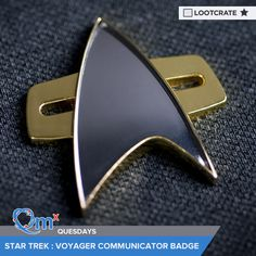 I'm entered to win a #StarTrek #Voyager Communicator Badge courtesy of QMx & Loot Crate! #QMxQuesdays