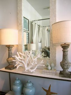 Beautiful coastal vignette classic • casual • home: A Favorite Stop for Inspiration
