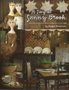 Primitive Folk Art Project Book  A Day at SUNNY by PrimFolkArtShop, $26.00