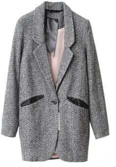 #chicnova                 #Clothing                 #Gray #Woollen #Coats #with #Button #Lapels #Details                          Gray Woollen Coats with One Button and Lapels Details                                                   http://www.seapai.com/product.aspx?PID=4844699