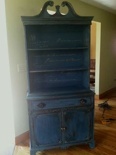 Vignettes: Painted Furniture and Eclectic Home Decor finished this china cabinet using Peacock blue! Love the color and so easy to work with! Thank you! https://www.facebook.com/photo.php?fbid=618231224927190&set=pcb.618231524927160&type=1&theater