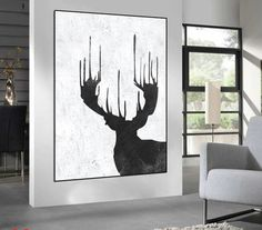 Huge Large Canvas prints add a unique touch to your home. Modern, stylish and unique design will be the most special piece of your decor. Especially for those who like abstract works, black and white acrylic painting can be prepared in desired sizes abstract painting on canvas, deer Painting on canvas, black and white handmade original Painting, Abstract art, home fine art 16x24 (40x60cm) $75 20x30 (50x76cm) $110 30x40 (76x102cm) $180 36x48(92x122cm) $240 40x53.5(102x136cm) $310…