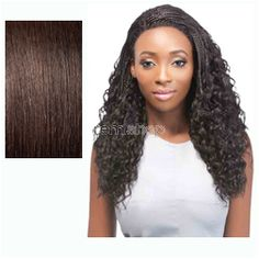 Sun Jun 5, 2016 - #8: Batik Bundle Hair Lace Front Peruvian Braid  - Color 2 - Synthetic (Curling Iron Safe) Braided Lace Front Wig
