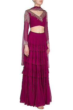 Orchid Embellished Lehenga Set Design by Roora by Ritam at Pernia's Pop Up Shop Girls Fashion Clothes, Girl Fashion, Fashion Outfits, Indian Fashion Designers, Indian Designer Wear, Sweet Wedding Dresses, Lehenga Skirt, Indian Outfits, Indian Dresses