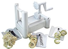 Spiralizer Best Vegetable Maker, Spiral Slicer, Peeler, and Shredder You'll Ever Use! Makes Zucchini Noodles, Veggie Spaghetti, Pasta, and Cut Vegetables in Minutes. http://www.amazon.com/Spiralizer-Vegetable-Shredder-Spaghetti-Vegetables/dp/B00KOWGZJE/