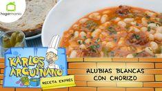 Receta de Alubias blancas con chorizo por Karlos Arguiñano
