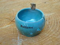 Owl yarn bowl robins egg believe $32.00