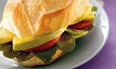 Sanduíche de abacate