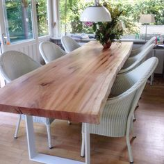1000 images about massivholztische esstische dinningtable on pinterest live edge table solid. Black Bedroom Furniture Sets. Home Design Ideas