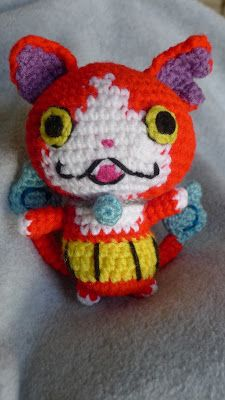 mnopxs2 the blog: Crochet Jibanyan from Yo-Kai Watch!