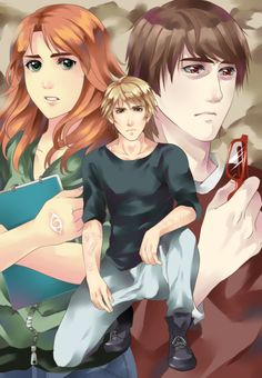 From Taki-lavi . clarissa 'clary' fray, jace herondale, simon lewis, the mortal instruments Clary And Simon, Clary And Jace, Clary Fray, Cassandra Jean, Cassandra Clare Books, The Mortal Instruments, Maia Roberts, Clockwork Princess, City Of Ashes